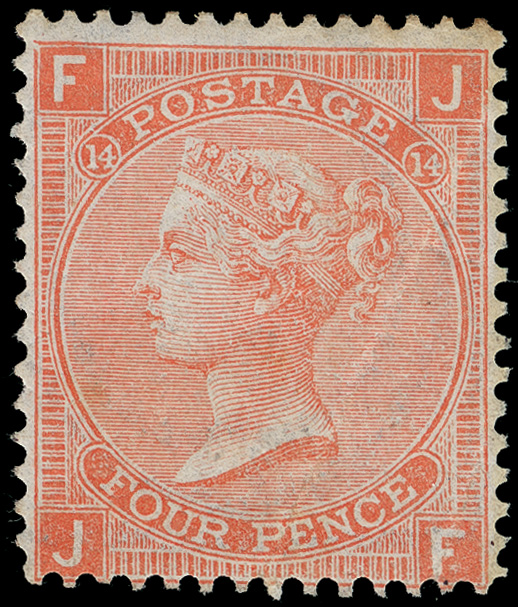 Lot 14 - Great Britain  -  COLONIAL STAMP CO. Auction #130 - Public Auction